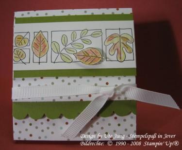 Herbstliche Schokoladenverpackung