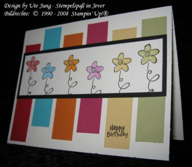 Geburtstagskarte aus Farbkartonresten