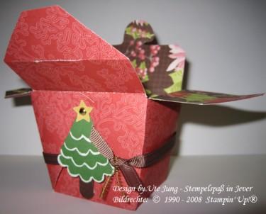 Weihnachtliches Pralinenschächtelchen 2