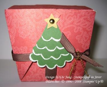 Weihnachtliches Pralinenschächtelchen 1