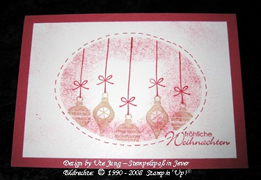 Weihnachtskugelnkarte