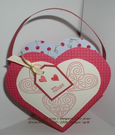 Herzkörbchen zum Valentinstag
