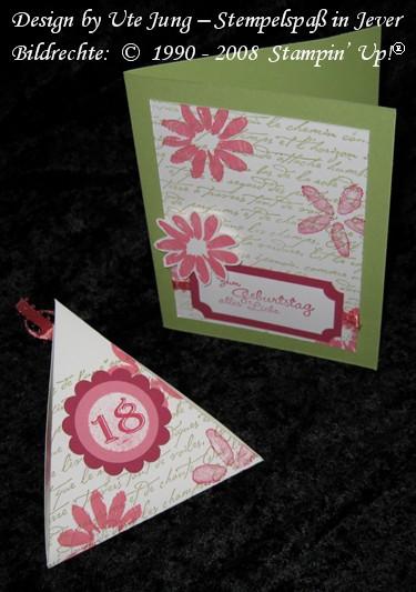 Geburtagskarte mit passender Verpackung zum 18. Geburtstag