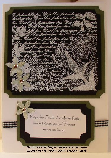Trauerkarte Frisch geschnitten