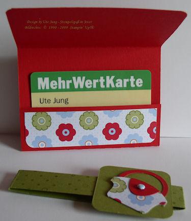 Verpackung für einen Gutschein im EC-Kartenformat  kl 2