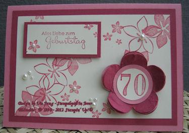 Geburtstagskarte basteln zum 70 geburtstag