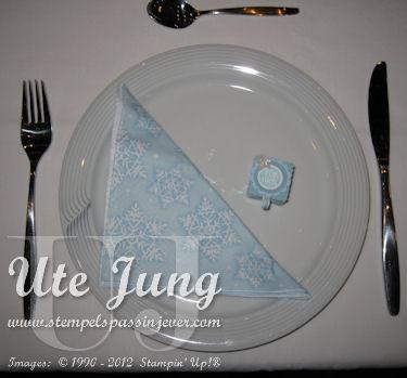 Winterliche Tischdeko