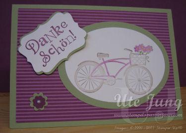 Karte mit Fahrrad
