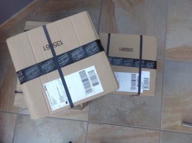 Erste Stampin' Up! Pakete mit Ware aus dem Ausverkaufsregal