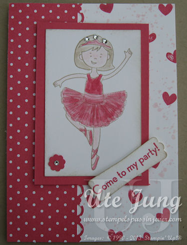 Stampin' UP! Stylin Girl Einladungskarte