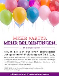 Freue Dich auf einen zusätzlichen Gastgeberinnen-Freibetrag von 25 €!