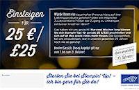 Jetzt für 25 Euro einsteigen!