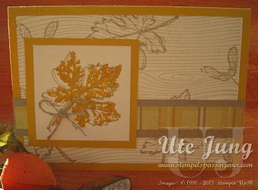 Herbstkarte Gently falling