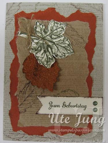 Herstliche Geburtstagskarte mit Stampin' Up! Gently Falling