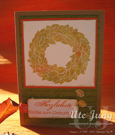 Stampin' Up! Wonderful Wreath