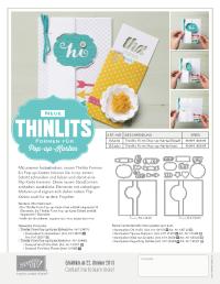 Neue Thinlits Formen