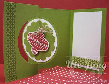 Thinlitskarte Weihnachtskugel
