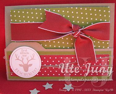 Weihnachtliche Gutschein-oder Geldkarte