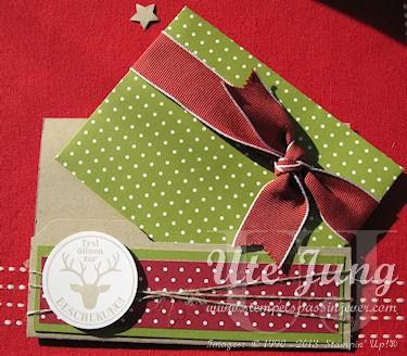 Weihnachtliche Gutschein-oder Geldverpackung