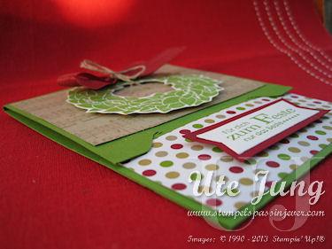 Weihnachtliche Gutscheinkarte