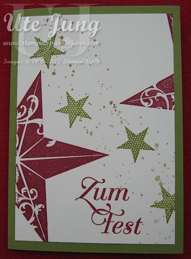 3 stampin up weihnachtskarten im handumdrehen ute jung stempelspa in jever. Black Bedroom Furniture Sets. Home Design Ideas