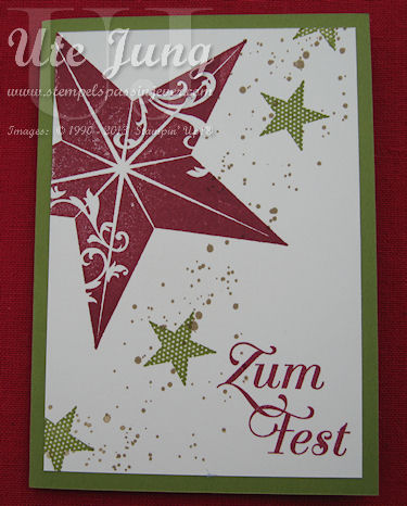 3 stampin up weihnachtskarten im handumdrehen ute jung for Weihnachtskarten gestalten kostenlos