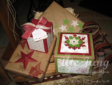 Weihnachtsgeschenke mit Stampin' Up! verpackt