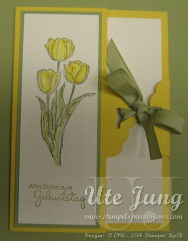 Frühlingshafte Geburtstagskarte