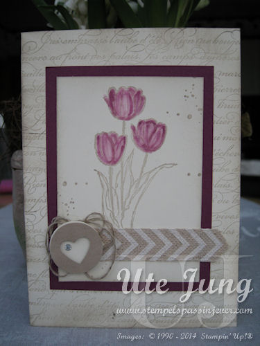 "Tulpenkarte mit ""Blessed Easter"""