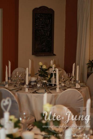 Tischdekoration zur Silberhochzeit