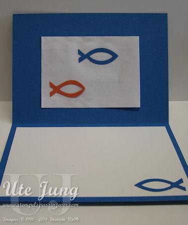 "Fische, aus der Big Shot Form ""Elegantes Gitter"" geschnitten"