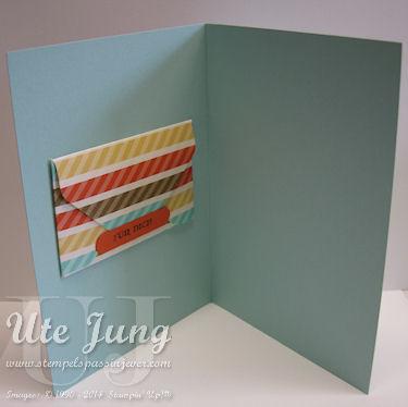 Kleiner Umschlag für Geld,<br>mit dem Stanz- und Falzbrett für Umschläge gestaltet