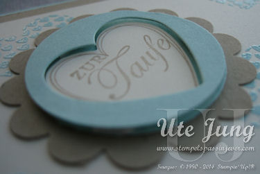"Taufkarte mit  Stampin' Up! ""Hearts a Flutter"""