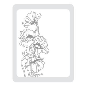 Prägeform Gartenblume
