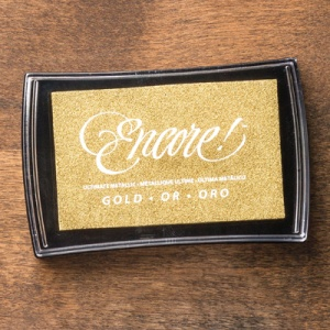 Encore Stempelkissen Gold