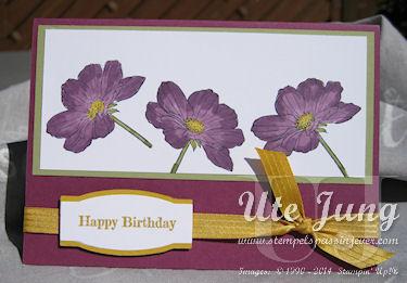"""Geburtstagskarte mit dem Stempelset """"Peaceful Petals"""" und den Mix-Markern"""