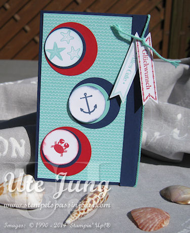 "Glückwunschkarte mit dem Stempelset ""Sea Street"