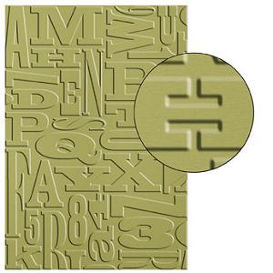130916 Prägeform Buchstabensalat. Statt 9,50 € nur 7,13€