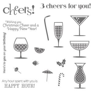 132013 Stempelset Happy Hour (Holz). Statt 35,95 € jetzt 26,96 €