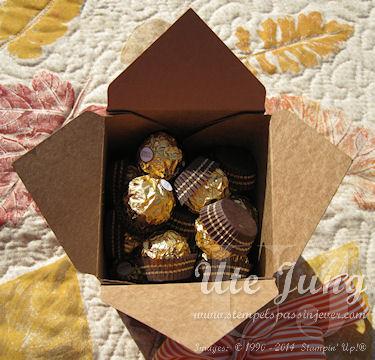 Größte Schachtelvariante mit dem Stanz-und Falzbrett für Geschenkschachteln