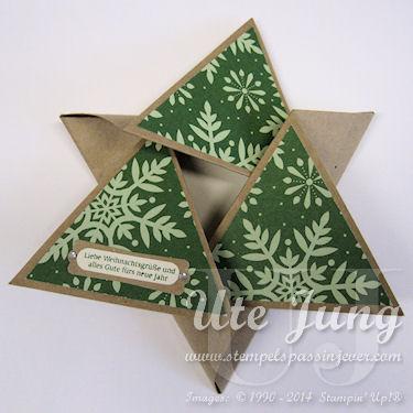 """Sternenkarte, dekoriert mit dem Designerpapier """"Festlich geschmückt"""""""