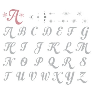 132716 Merry Monogram Stamp Brush Set - Digital Download. Statt 8,95 € jetzt 5,37 €