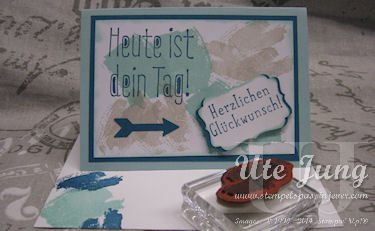 "Geburtstagskarte mit Stampin' Up! ""Work of Art"""