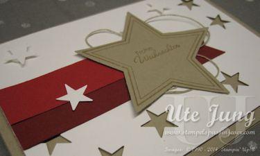 Schnelle Weihnachtskarte mit Sternen