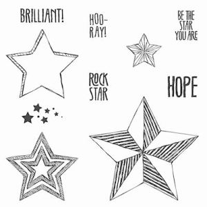 135731 Stempelset Holz Be the Star. Statt 34,95 € jetzt 26,21 €