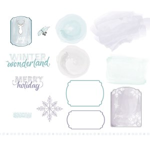 "136678 Digitaler Download ""Watercolored Winter Kit"""