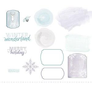 """136678 Digitaler Download """"Watercolored Winter Kit"""""""