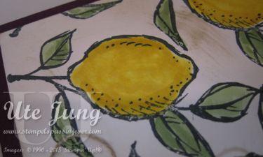 Mit den Mix-Markern ausgemalte Zitronen