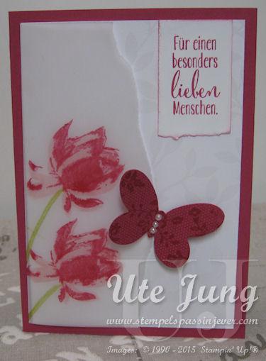 """Karte mit dem Sale-A-Bration Stempelset """"So froh"""""""