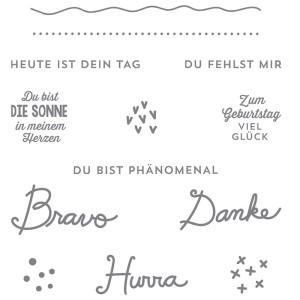 """141118 Stempelset transparent """"Sonnengruß"""". Statt 22,00 € jetzt 16,50 €"""